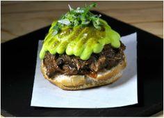 Buena idea, hamburguesa con allioli de albahaca