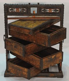 Antique Asian Furniture: Chinese Antique Wedding Carrying Box from Shanxi Province, China