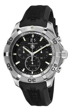 TAG Heuer Men's CAF101E.FT8011 Rubber Analog-Digital with Black Dial Watch by TAG Heuer @ TAG-Heuer-Watches .com