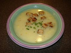 O'Charley's Baked Potato Soup - their older (and better) recipe.  I make this all the time and it is delicious and easy!