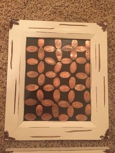 Pressed penny collection. Display your pressed pennies in a frame.                                                                                                                                                     More