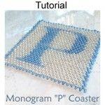 Seed Bead Coaster Monogram P Beading Pattern