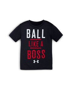 Under Armour Boys' Ball Like a Boss Graphic Tee - Sizes Kids - Bloomingdale's Toddler Boy Outfits, Toddler Boys, Kids Wardrobe, Like A Boss, Tshirts Online, Little Boys, Under Armour, Graphic Tees, Boy Clothing
