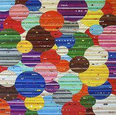 LOVING Glenn Fischer's cheerful, poppy collage art for transforming white walls.