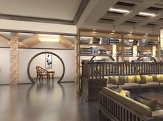 2015 Graduate Design_Yun Lin Shan Ju Resort Hotel Interior Design_Book Bar_Individual Space