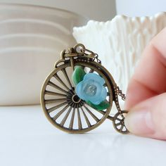 Penny Farthing Bicycle Charm Necklace Old by FiveLittleGems, $26.00