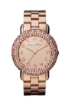 MARC BY MARC JACOBS 'Marci' Mirror Dial Crystal Bezel Watch available at #Nordstrom