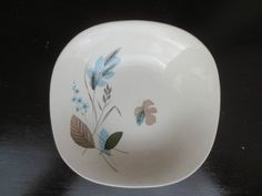 J & G Meakin Soup Fruit Bowl SOL Design  18.5 cms Blue Beige