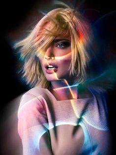 #neon #blonde #model
