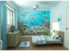 Wallpapper bedrooms are very easy to find in the store, either online or offline. But you also must consider other equipment that is in the child's bedroom. Bedroom furniture like wardrobes, beds or desks should be in sync with the color of your child's bedroom wallpaper.