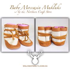 #Tlicho #baby #moccasin #mukluks by the #Yellowknife Northern Craft Store, available on http://onlinestore.tlicho.ca