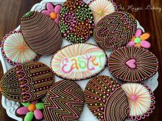 Intricately Piped Easter Eggs   The Magpie Bakery