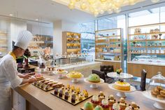 Experience The Mandarin Cake Shop. Offering a wide variety of freshly baked, homemade delicacies including pastries, chocolates, breads and cakes, . Mandarin Cake, Mandarin Oriental, Pastry And Bakery, Pastry Shop, Bakery Store, Sweet Buffet, French Cafe, Chocolate Shop, Retail Interior