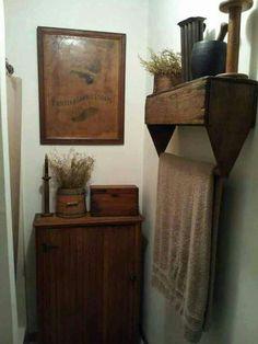 Use an old tool box for a towel rack. #Creative #HomeIdeas