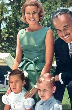 Princess Grace, Prince Rainier, Princess Caroline and Prince Albert