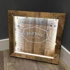 LED Pallet Wood Sign with Custom Graphic / Quote - Made to Order