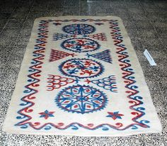 Keçe Yolluk, Afyonkarahisar, Türkiye- Felt rug, Traditional Turkish technique..