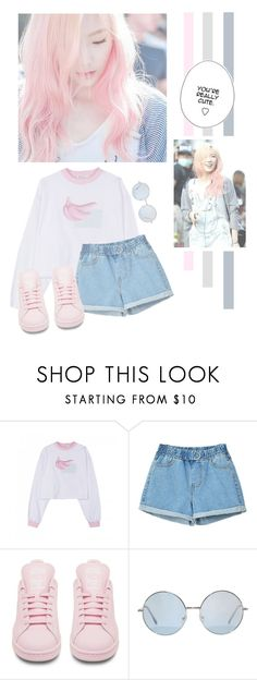 """""""Kim Taeyeon"""" by lazy-alien ❤ liked on Polyvore featuring adidas, Snsd, GirlsGeneration and kimtaeyeon"""