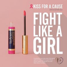 When you buy Kiss for a Cause $1 will be donated from every sale! #breastcancerawareness #senegence #lipsense #liquidlipstick