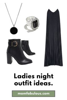 Planning a dinner with the ladies? We have the perfect fashion moment for you. Pair it with a moto jacket for the fall and winter months to complete the look. 🖤 #MomLife #MomFabulous #fashion #ladiesnight #dinnerideas #ootd #outfitideas #outfits Ladies Night Outfit, Night Outfits, Autumn Winter Fashion, Spring Fashion, Girls Slip, Cute Aprons, Stitch Fix Outfits, Workout Shoes, Business Outfits