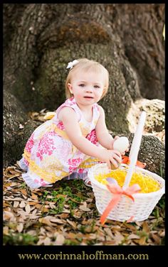 www.corinnahoffman.com Spring Easter themed kids photo in Jacksonville Florida