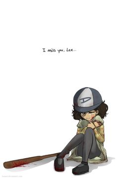 :( seriously, the moment where Clem had to leave Lee to turn I freakin' cried! So sad :'( gawdy #TheWalkingDeadGame #Clementine #FanArt