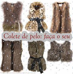 Como fazer o colete de pele (fake) que não sai de moda e quem sabe até ganhar um dinheiro extra! Instagram Widget, Sequin Skirt, Fur Coat, Jackets, Link, Fashion, Fur Vests, Diy, Toddler Girls