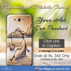 Why don't you use your art on your mobile. Just give us your painting or use ours. Get painting on mobile covers. Order today for this painting mobile cover for just Rs. Reply here.