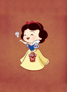 Snow white @Sarah Marshall even though you hate snow white you have to admit this is freakin adorable!