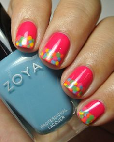 Mani with Zoya - Stunning Collection . Would also look amazing with a light blue or white base colour!