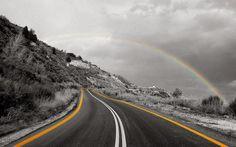Rainbow Over Hill Photograph: http://www.wallpaperspub.net/pre-rainbow-over-hill-3471.htm #Rainbow #Rainbowwallpapers #Rainbowphotos