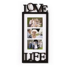 Furnistars 3 Opening Black Wood Wall Hanging Picture Photo Frame - 4x6