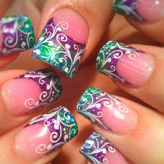 Pinned by www.SimpleNailArtTips.com STAMPING NAIL ART DESIGN IDEAS -   By Tara @ B'Polished Nail Studio Beautiful Nail Designs, Beautiful Nail Art, Gorgeous Nails, Fabulous Nails, Pretty Nails, Cute Nails, Nail Art Diy, Diy Nails, Cool Nail Art