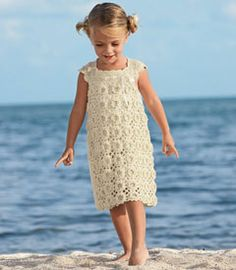 girls crochet dress...wonder if I could find someone who could do this??? @Andrea Smith  :o)