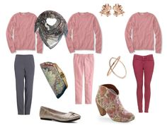 what to wear with a pink sweater, from The Vivienne Files