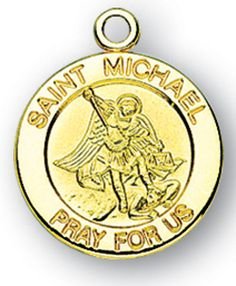 14k white gold and diamond st michael medal solid casting no hmh religious catholic patron saints medal jewelry 58 st michael sterling silver with gold overlay medal necklace the medal depicts st michael the aloadofball Gallery