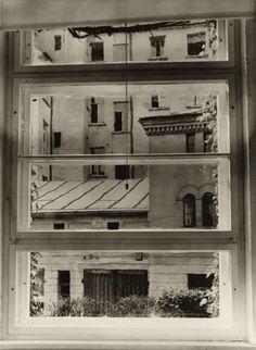 Studio Window, Photo by Aenne Biermann, 1929 New Objectivity, Bw Photography, Gelatin Silver Print, First Art, Ansel Adams, Contemporary Photography, Museum Of Modern Art, Life Magazine, Wine Rack