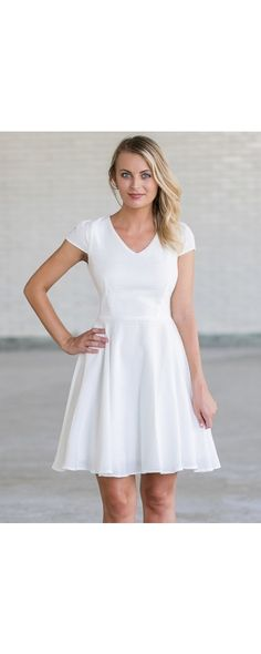 Lily Boutique Make An Impact Capsleeve A-Line Dress in White, $23.0000 Cute White Dress | White Rehearsal Dinner Dress | White Party Dress | White Sundress | www.lilyboutique.com Cute White Dress, White Sundress, White Dress Summer, Summer Dresses, White Rehearsal Dinner Dress, Dresser, Under The Skirt, Lily Boutique, Wedding Weekend
