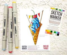 И я сразу же опробовала в деле новые маркеры  Кстати в милой раскрасочкекоторую прислали в подарок @sketchmarkersclub @art_markers  Я просто влюбилась. Как они ярко ложатся на бумагу. Далее самое приятное - они практически не растекаются ( )а ведь в раскраске много мелких деталей и я люблю поработать со слоями и градиентами. Смешиваются тоже просто на отличноно все же лучше не давать им высохнутьесли хотите плавные градиентыно тут кому как нравится. С другими маркерами тоже смешиваются на…