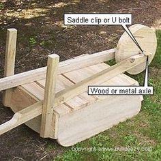 wheelbarrow axle and wheel.DIY plansthe wheelbarrow axle and wheel.DIY plans How to Make a Wooden Wheelbarrow Planter Wooden Crafts, Diy Wood Projects, Outdoor Projects, Wooden Diy, Wheelbarrow Planter, Diy Holz, Pallet Crafts, Wood Pallets, Woodworking Projects