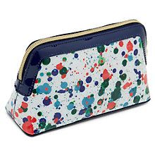 Buy Ted Baker Colour By Numbers Olaar Paint Splash Small Wash Bag, Ivory Online at johnlewis.com