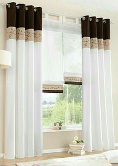 High quality embroidered window curtains for living room bedroom cortinas for windows green orange brown Home Curtains, Modern Curtains, Curtains With Blinds, Window Curtains, Curtain Panels, Cheap Curtains, Patchwork Curtains, Striped Curtains, Curtain Styles