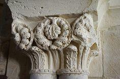 Monasterio de Santa María. La Vid (Burgos) capitel romanico