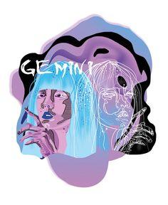 Gemini the Twins Zodiac Art, Zodiac Signs, Stickers, Taurus, Inspire Me, Cosmic, Astrology, Twins, Character Design