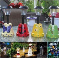 36 DIY Waterdrop Solar Lights To Your Garden Ideas Best Picture For Solar light crafts wine bottles Diy Solar, Solar Light Crafts, Solar Lamp, Lighting Your Garden, Backyard Lighting, Outdoor Lighting, Lighting Ideas, Outdoor Lamps, Solar Lights For Garden