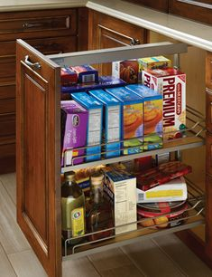 Pull Out Base Pantry Cabinet | Wood-Mode | Fine Custom Cabinetry