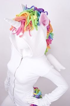 Unicorn hoodie costume - with how much marley talks about unicorns, i better pin this~