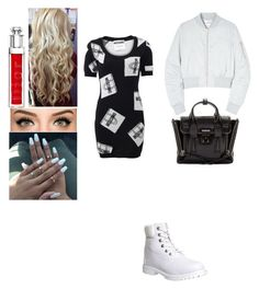 """I love moschino"" by insafsat on Polyvore featuring mode, Moschino, 3.1 Phillip Lim, Won Hundred, Timberland et Christian Dior"