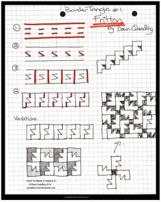 How to Draw Tangle 01 Fritton quaddles-roost by Quaddles-Roost.deviantart.com on @deviantART