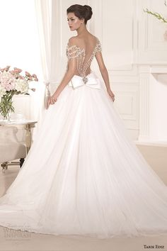 tarik ediz 2014 bridal collection off the shoulder sweetheart a line wedding dress inci back